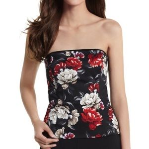 🌸 WHBM Black Floral Bustier